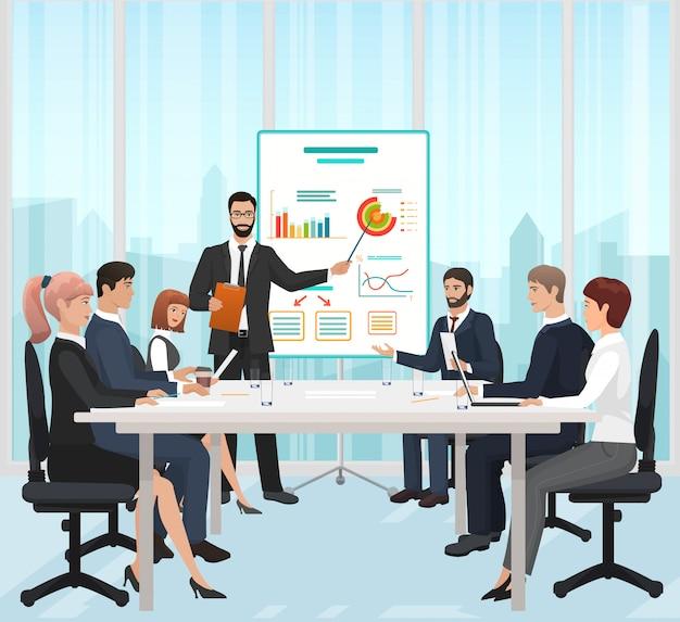 Apresentação de negócios no escritório