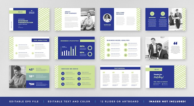 Apresentação de negócios powerpoint slide template ou sales guide slider