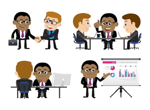 Apresentação de pessoas de negócios, conceito de treinamento