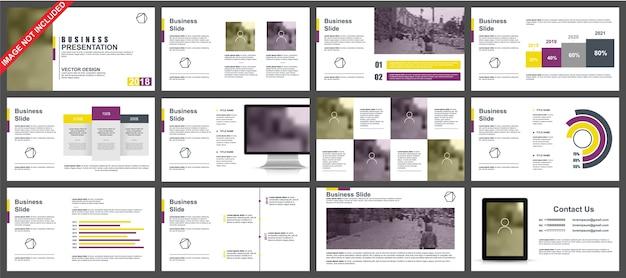 Apresentação de powerpoint de negócios slides modelos de elementos de infográfico.