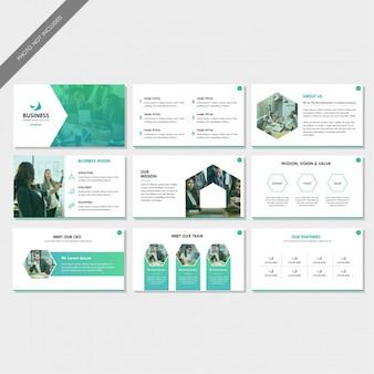 Apresentação de slides do perfil da empresa corporativa