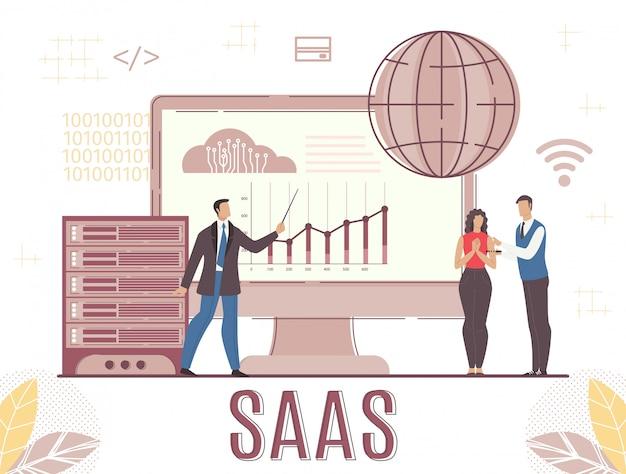 Apresentação de software de negócios e serviço de nuvem