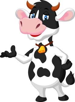 Apresentação de vaca bonito dos desenhos animados