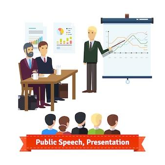Apresentação de venda, discurso de construção de equipe