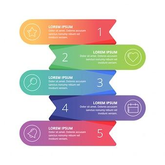 Apresentação de web de elemento infográfico