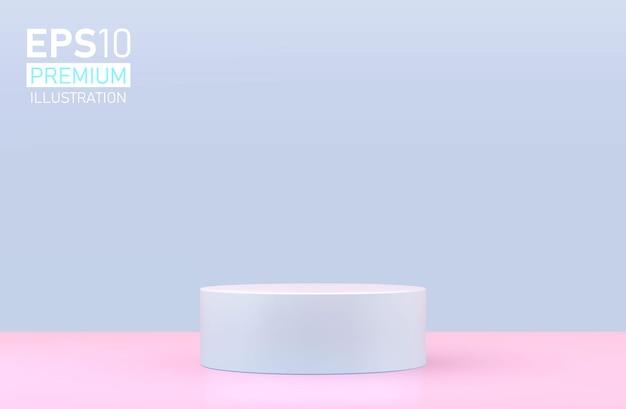 Apresentação do produto, mostruário de produtos cosméticos, pódio, pedestal de palco ou plataforma.