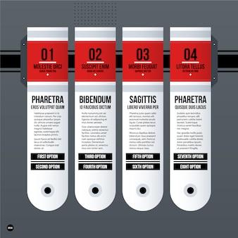 Apresentação em powerpoint com design branco e vermelho