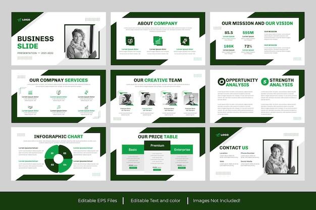 Apresentação em powerpoint de negócios verdes