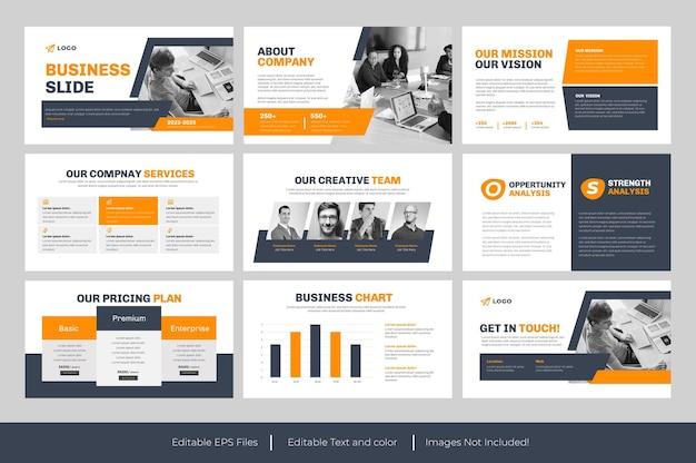 Apresentação em powerpoint de slides de negócios