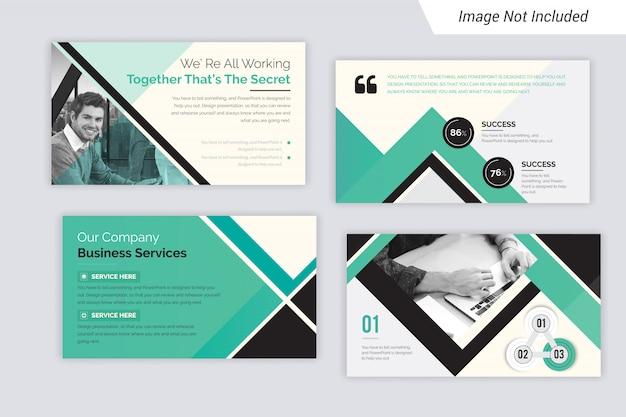 Apresentação em powerpoint e design de layout de apresentação de slides. use para o relatório anual de negócios.