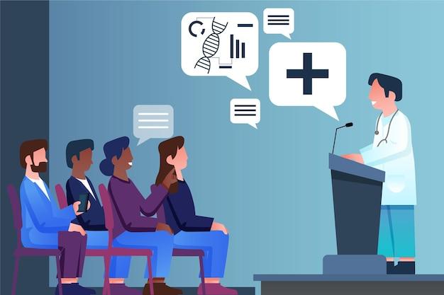 Apresentação médica de design plano