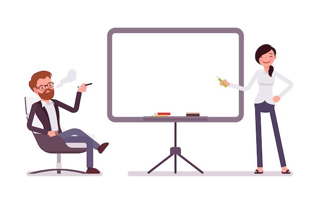 Apresentação no escritório, copie o espaço
