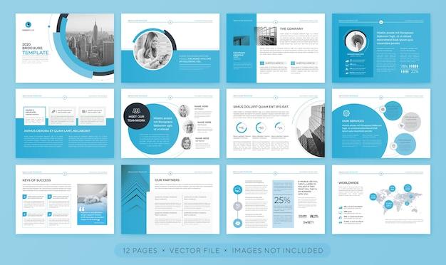 Apresentação profissional ou modelo de folheto corporativo