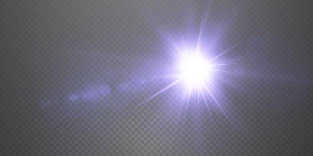 Apresentando os efeitos dos conjuntos de luz neon brilhando em azul