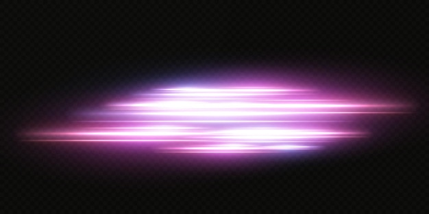 Apresentando os efeitos dos conjuntos de luz neon Vetor Premium