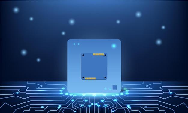 Apresente o design do fundo do seu chip