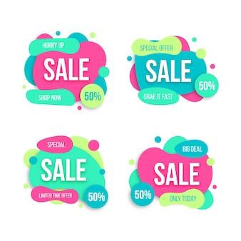 Apresse-se coleção de banner de oferta especial