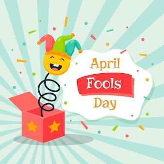 April fools day jack na caixa de brinquedos
