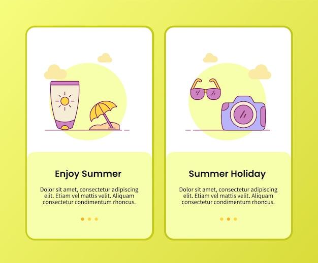 Aproveite a campanha de férias de verão para o modelo de aplicativo de integração de aplicativos móveis