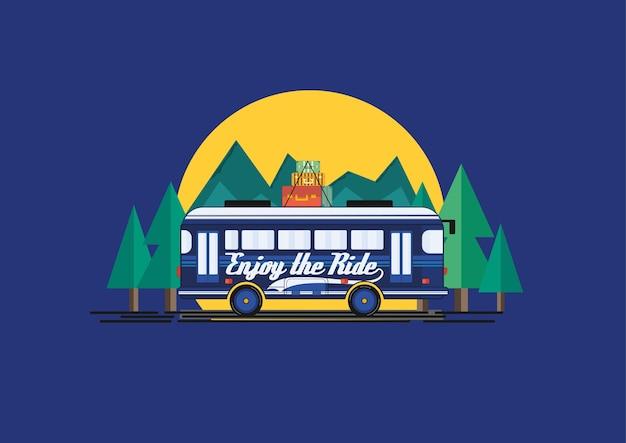 Aproveite a ilustração do ônibus de passeio ride