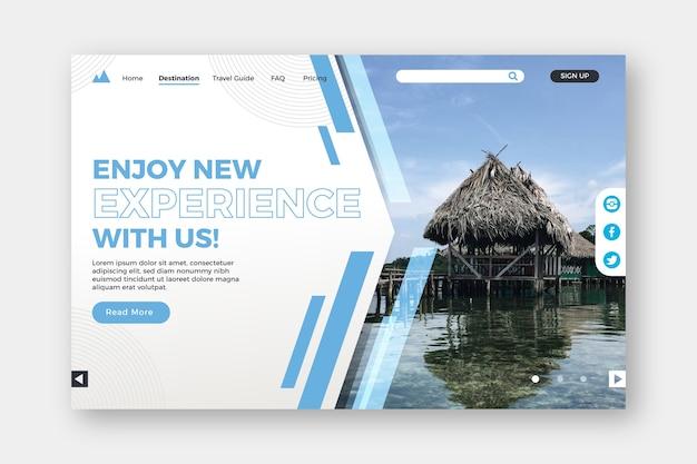 Aproveite a página de destino de novas experiências