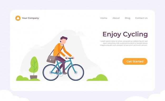 Aproveite a página de destino do ciclismo