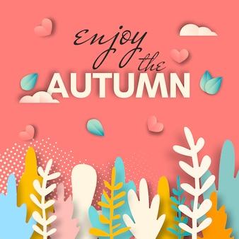 Aproveite o cartão de outono