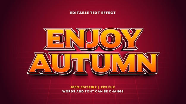 Aproveite o efeito de texto editável do outono em um estilo 3d moderno