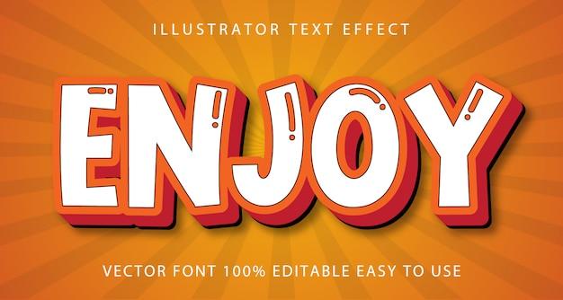 Aproveite o efeito de texto editável