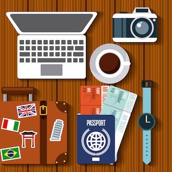 Aproveite o ícone isolado viagens de férias