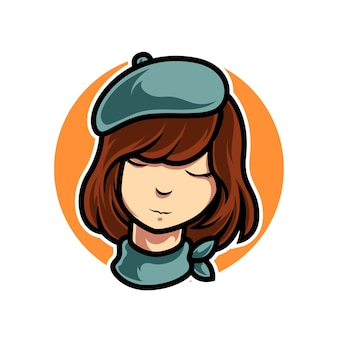 Aproveite o logotipo do mascot da temporada do outono