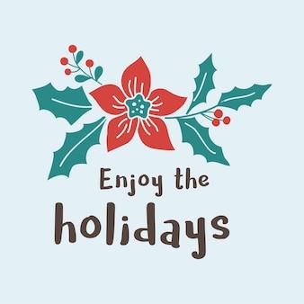 Aproveite o vetor de natal de férias