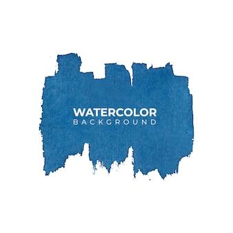 Aquarela abstrata azul espirrando fundo, pintados à mão no papel.