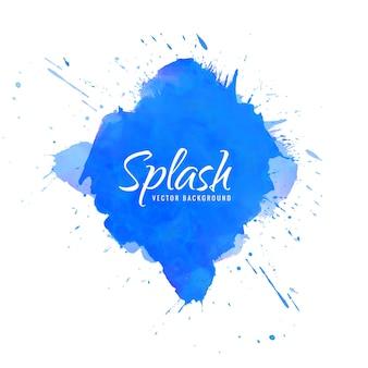 Aquarela abstrata azul splash