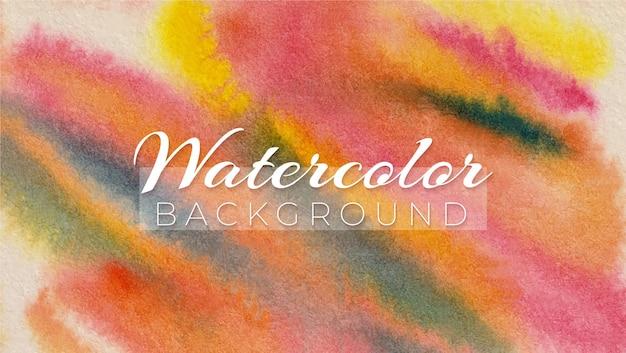 Aquarela abstrata carmesim lago gamboge matiz e preto marfim moderno design elegante fundo