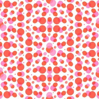 Aquarela abstrata pontilhada padrão sem emenda