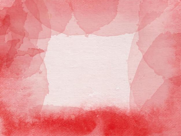 Aquarela abstrata tinta à mão com fundo vermelho