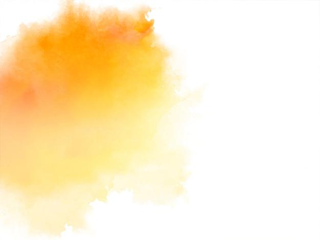 Aquarela amarela brilhante abstrata