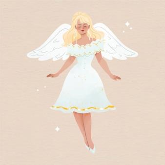 Aquarela anjo de natal