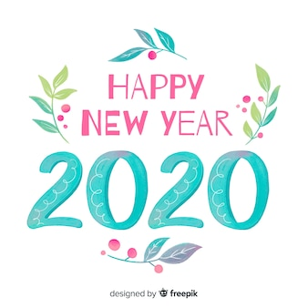 Aquarela ano novo 2020