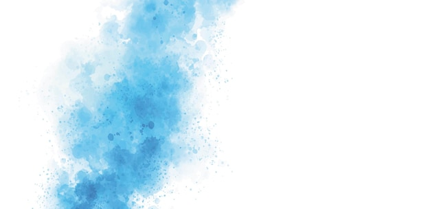 Aquarela azul em ilustração vetorial de fundo branco