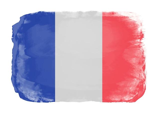 Aquarela bandeira da frança