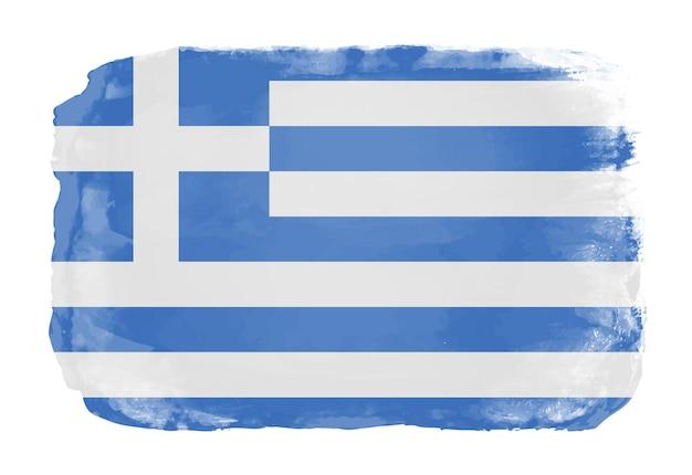 Aquarela bandeira da grécia