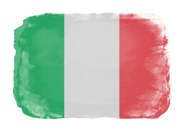 Aquarela bandeira da itália