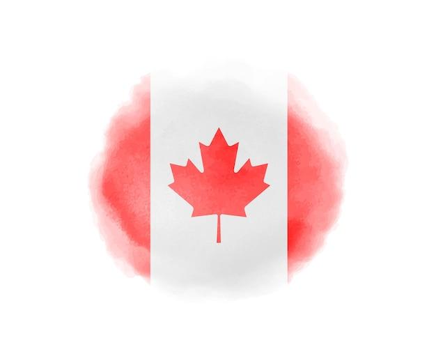 Aquarela bandeira do canadá
