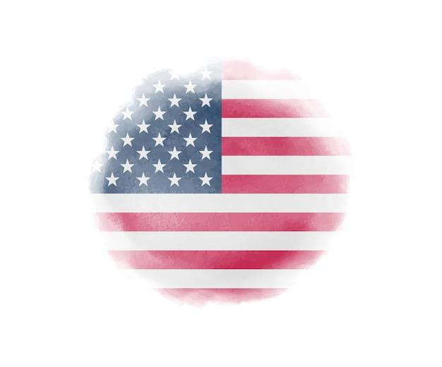 Aquarela bandeira dos eua