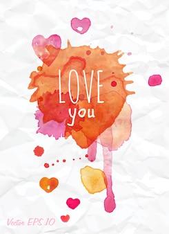 Aquarela cai te amo