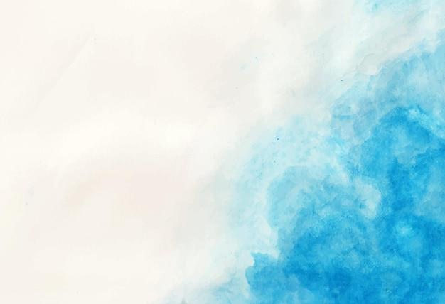 Aquarela com fundo azul detalhado