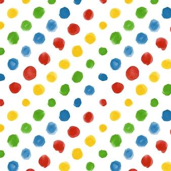 Aquarela com padrão pontilhado multicolorido