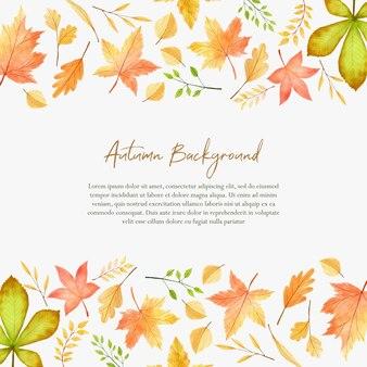 Aquarela de banckgound de outono